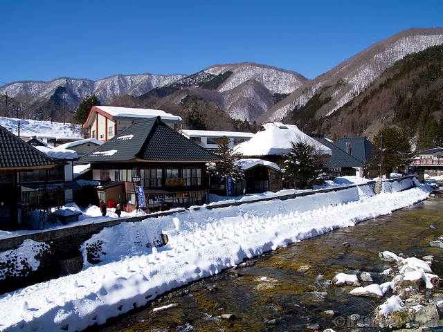 雪の平家集落 (Yunishikawa Onsen in winter)