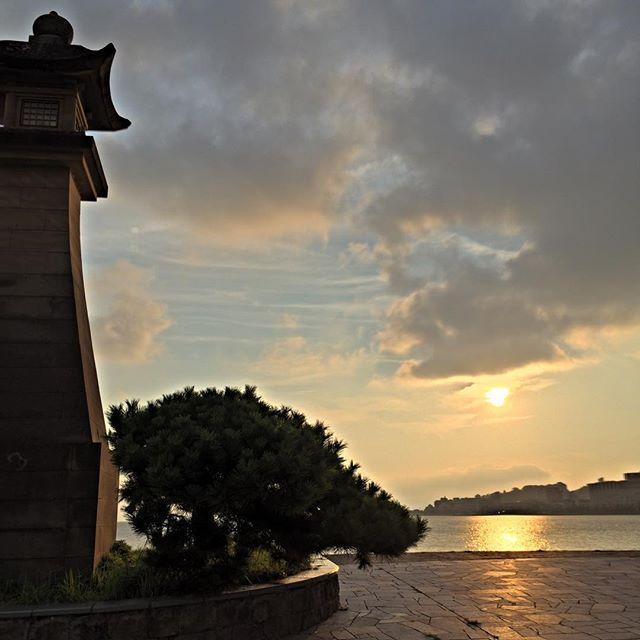 宍道湖の夕陽(松江市)