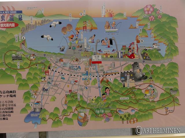 浅虫温泉観光案内図