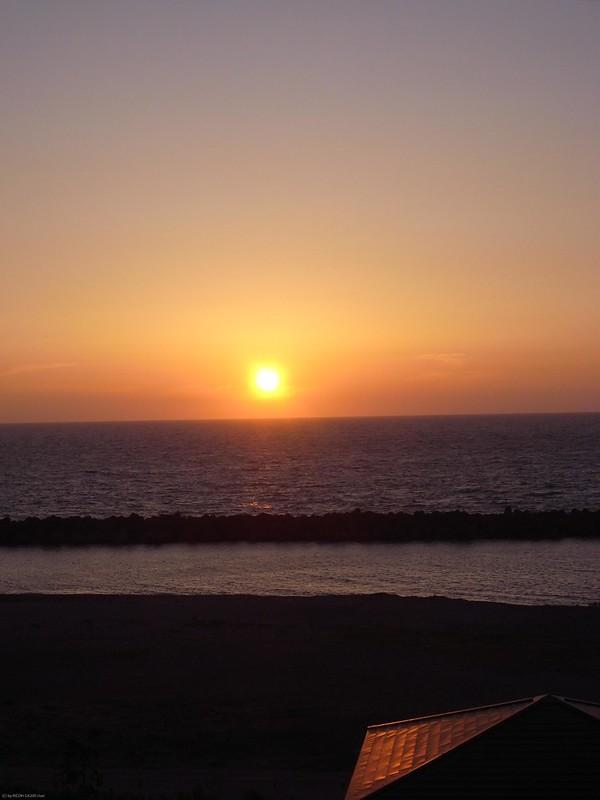 瀬波温泉夕陽